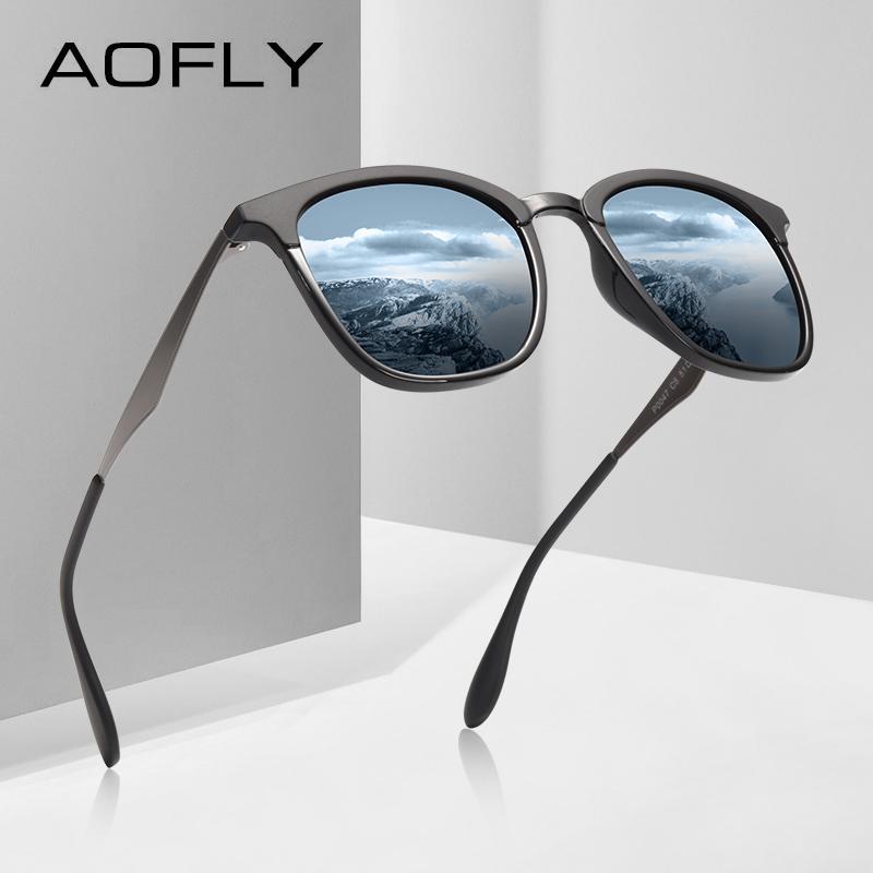 AOFLY MARQUE CONCEPTION Classique lunettes De Soleil Polarisées Hommes Femmes Conduite Lunettes De Soleil Cadre Carré Mâle Lunettes UV400 Gafas De Sol