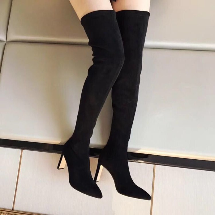 Hot2019 Elastic Style Force Cashmere Repair Package Thick Leg With Sexy Overknee Boots