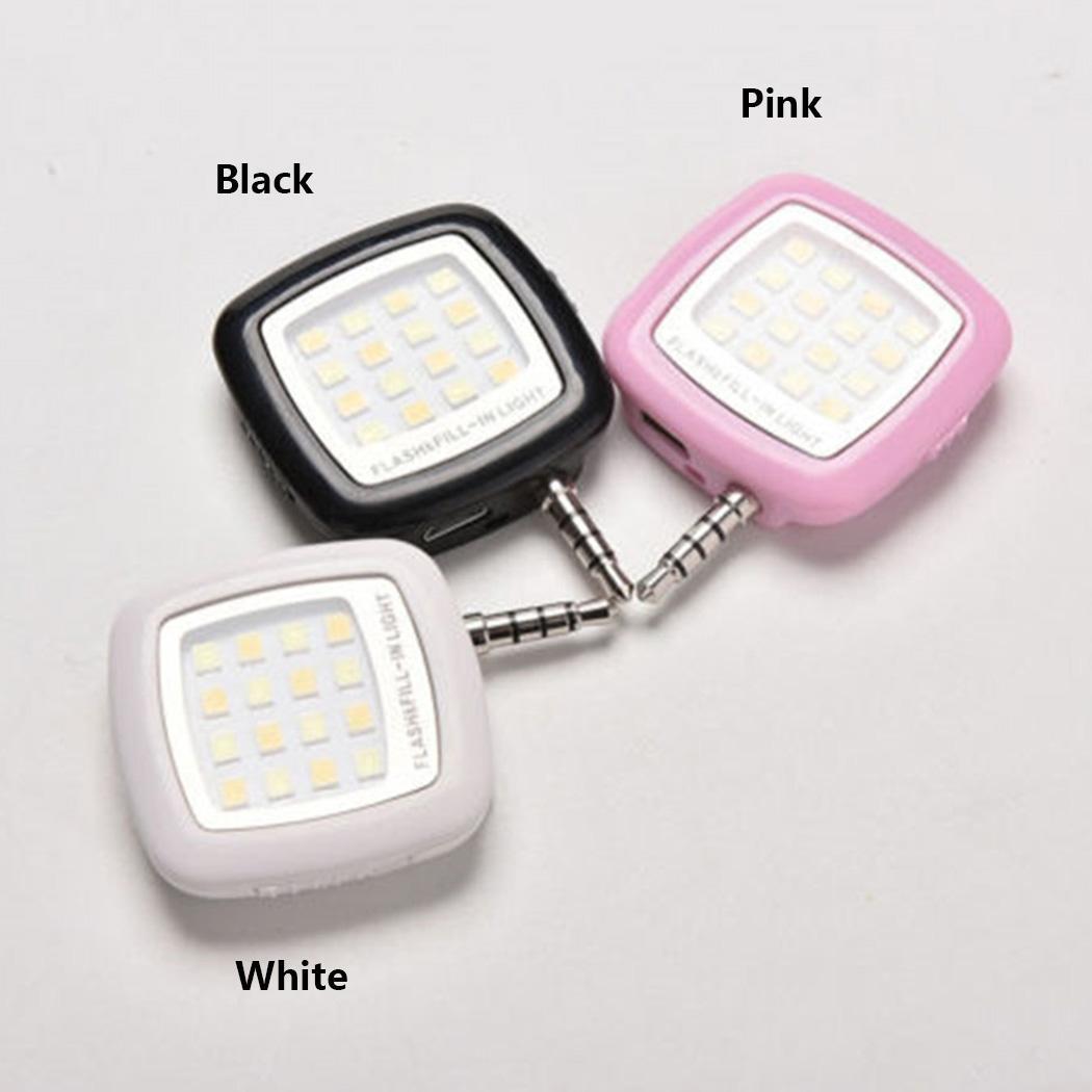 Fashion New Portable Adjustable Mini 16 LED Selfie Flash Fill Flash Light  For Smartphone
