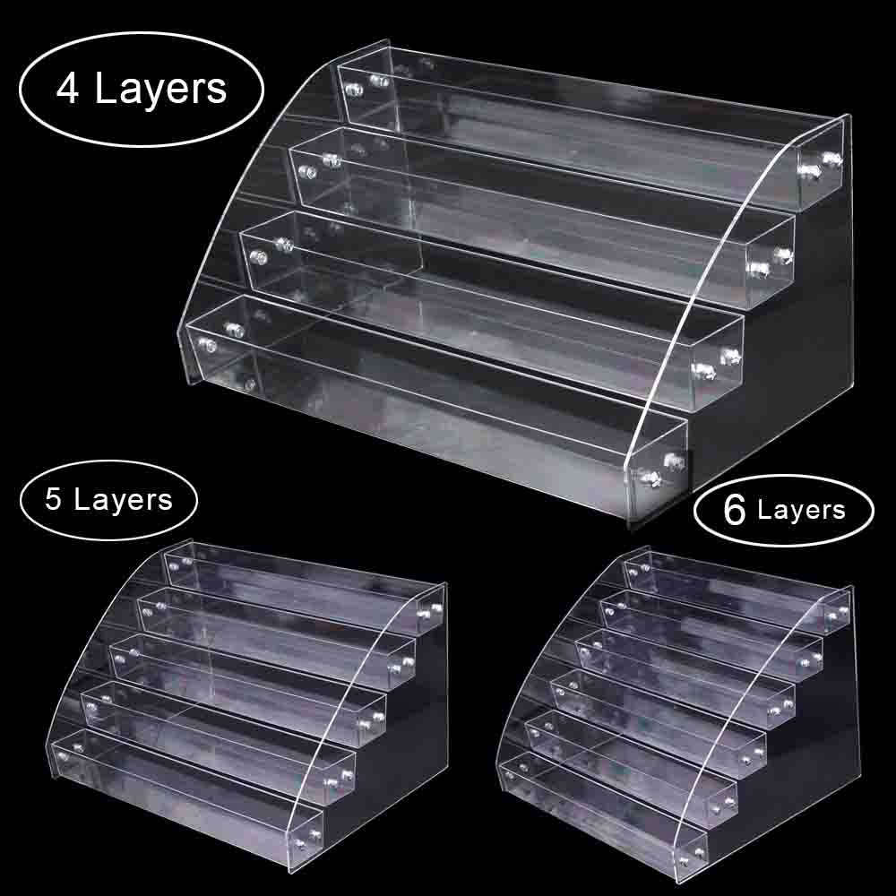4 Tier Nail Polish Varnish Display Stand Acrylic Lip Stick Shop Counter Holder