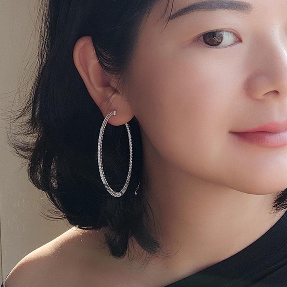 Large hoop earrings 925 silver (4)