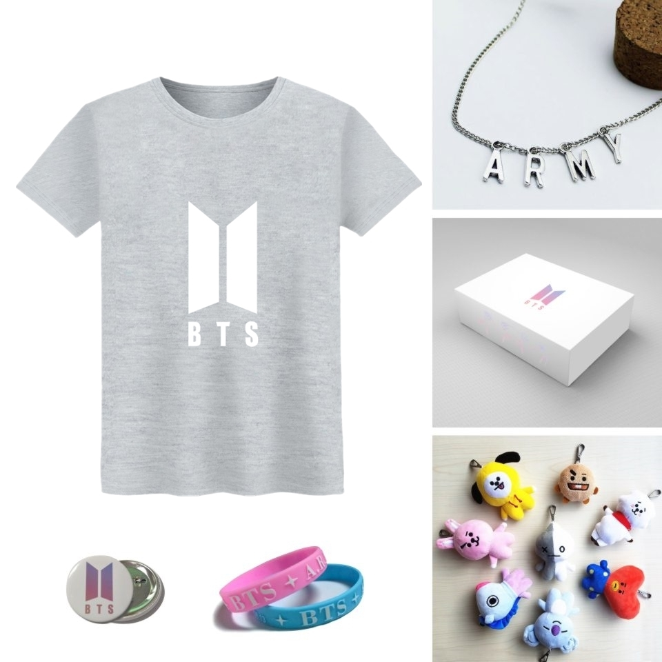 T-shirt Box Bts 100% Cotone Bangtan Love Yourself T-Shirt Beautiful Fan Gift Box Xxs-4xl Y190413