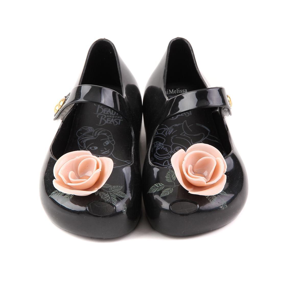 Melissa Kids Sandalen Mini Rose Mit Grünen Blättern Gedruckt Mädchen Schuh New Beauty Beast Gelee Prinzessin Regen Schuhe Weichem Kunststoff Q190601