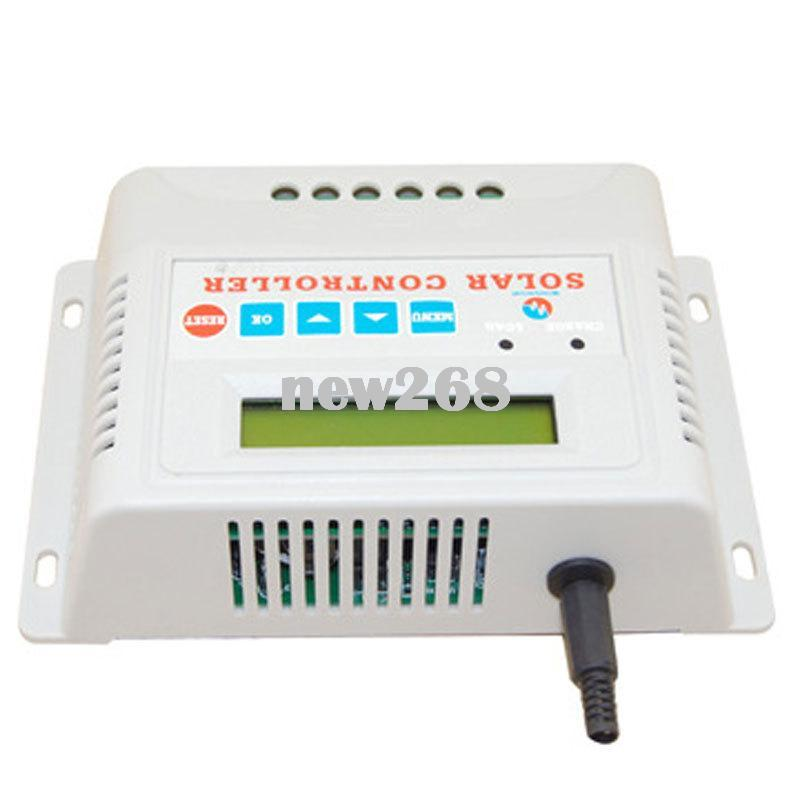 10A//15A//20A//30A LED MPPT Solar Charge Controller 12//24V Auto Waterproof Timer TR