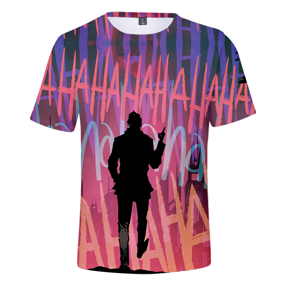 Mens Abstract Water Colour Light Print Tee T Shirt Top