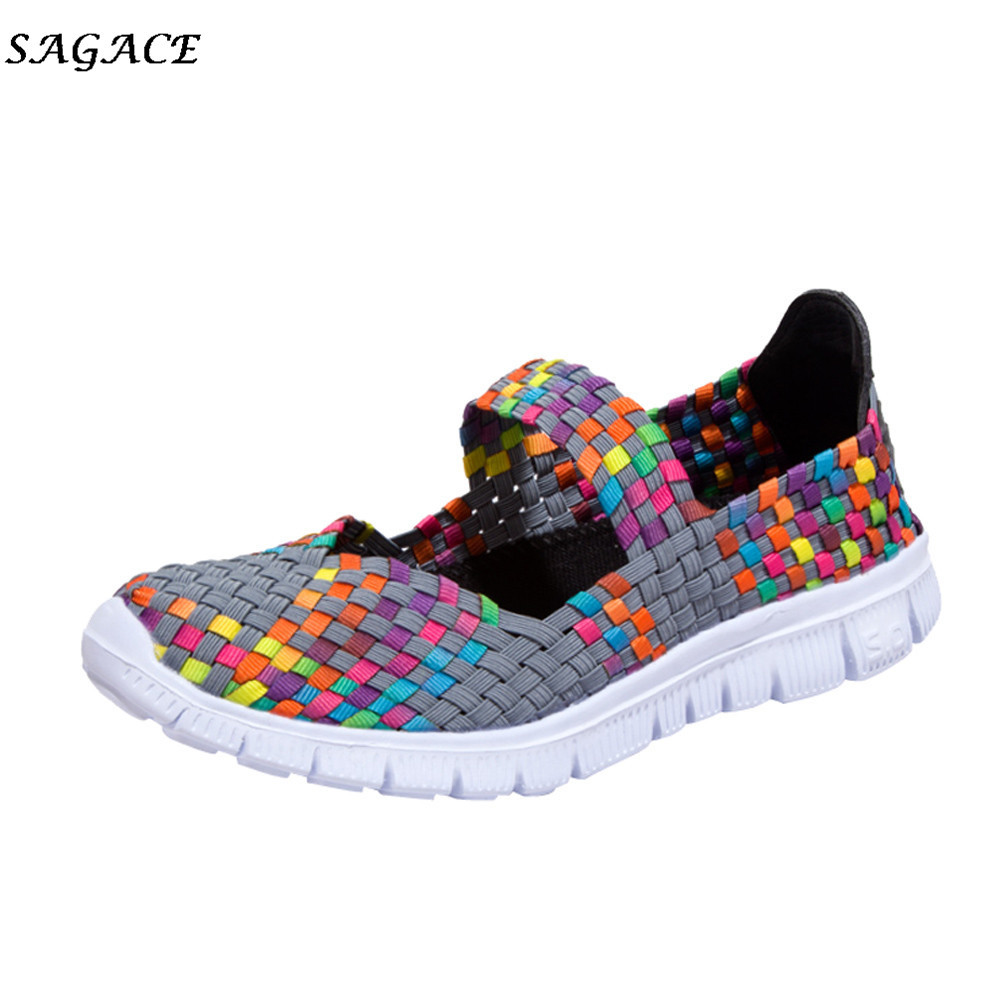 2019 CAGACE 2018 Casual shoes for women Soft Girls Sneaker Spring Summer Woven Lady Breathable Light Weight travel Shoes