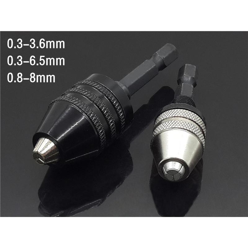 """1//4/"""" 6 mm Tige Hex Keyless Drill Bit Chuck Adaptateur Convertisseur Changement Rapide Outil"""