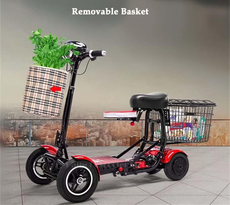Daibot Four Wheel Electric Skateboard Portable Electric Scooters 10 Inch 36V Foldable Electric Scooter For DisabledElderly (3)