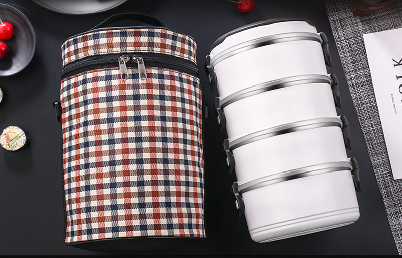 Black White Leakproof Lunch Box 304 Stainless Steel Adult Student Food Storage Container Metal Plastic Thermal Bento Box Japan Style 19