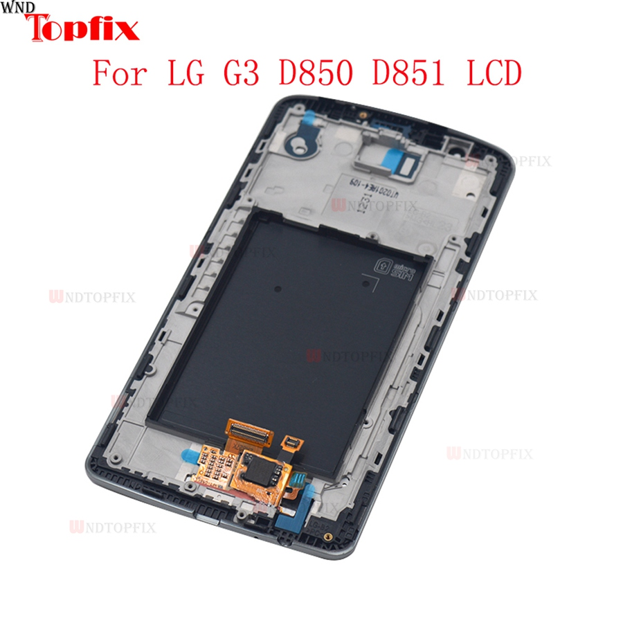 100% Tested 5.5inch LCD For LG G3 D850 D851 LCD Display Touch Screen Digitizer Assembly With Frame Pantalla Replacement Parts (7)