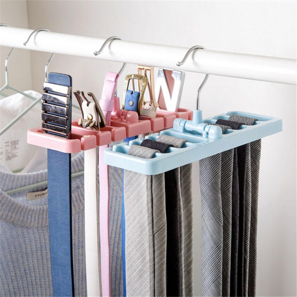LIYIMENG Belt Storage Rack Hanging Tie Shelf Closet Shelves Organizer Multifunctional Wardrobe Space Saver Scarf Rack 3