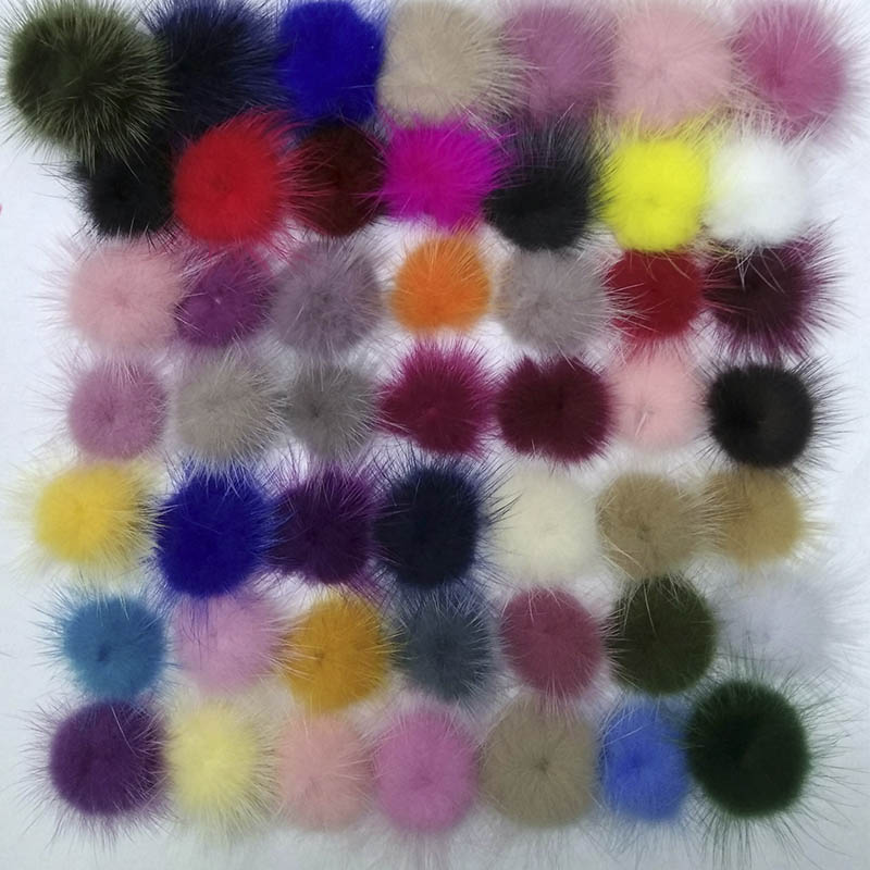 30MM Mink Fur Ball Fur Pompom DIY Jewelry Findings Mink Ball for Shoes Jewelry Cloth Decoration Making Handmade Craft