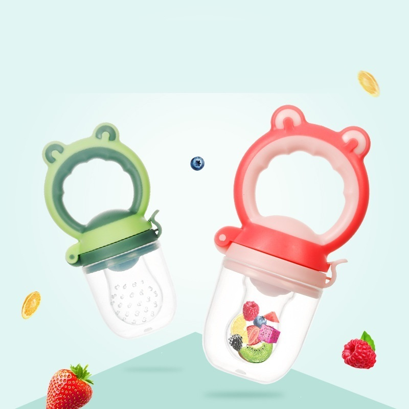 Cartoon Frog Fresh Food Baby Pacifier Silicone Bebes Dummy Infant Fuit Pacifier Feeder Baby Sucette Nipple Chupetas