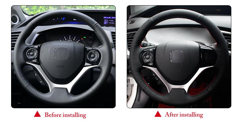 for Honda Civic 9 2012 steering wheel cover