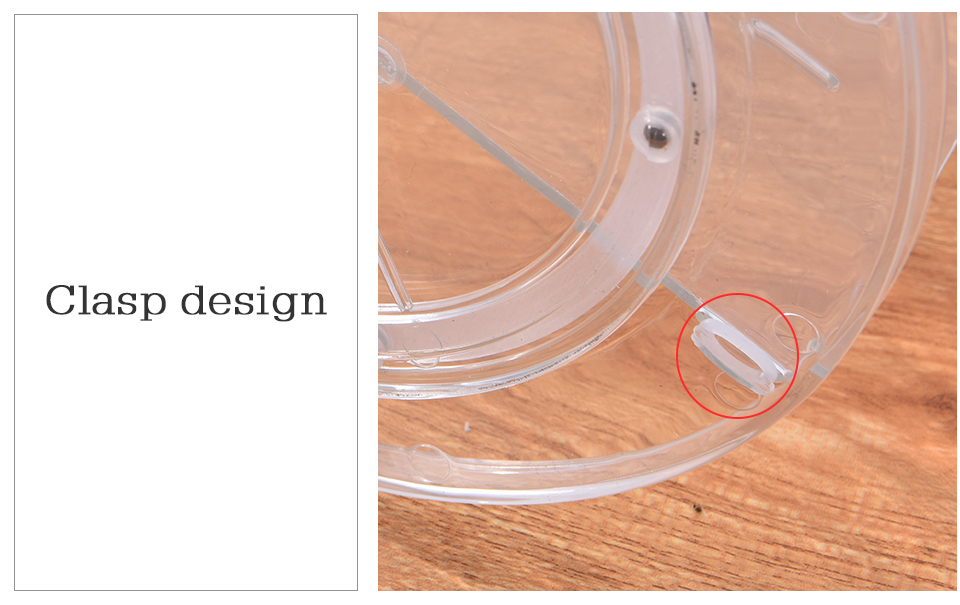 Makeup Organizer 360 Rotating Adjustable Storage Box Plastic Clear AcrylicTransparent Box Jewelry Necklace Nail Polish Cosmetic (10)