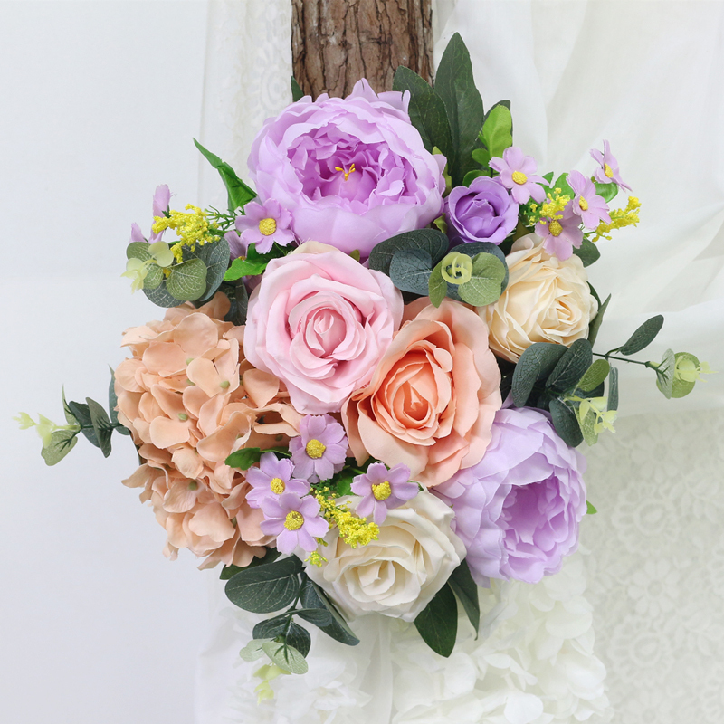 JAROWN Artificial Rose Flower Row Small Corner Flowers Simulation Silk Fake Flowers Wedding Decor Home Garland Decor Flores (5)