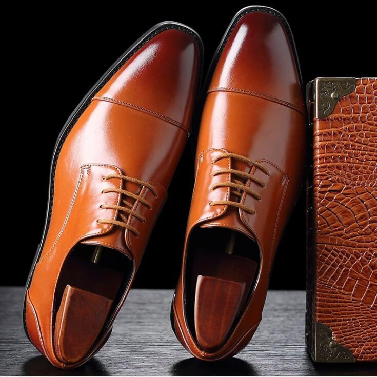 Zapatos de vestir para hombres de oficina zapatos formales de patrón Floral