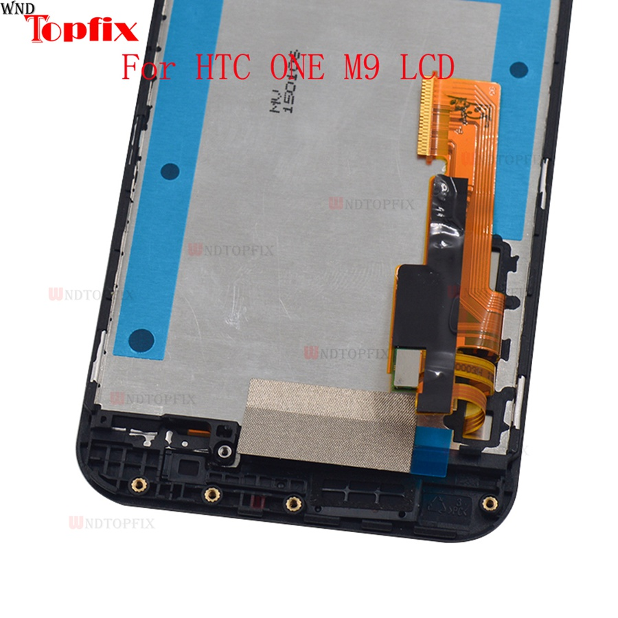 5.0inch 100% Tested For HTC One M9 LCD Display Touch Screen Digitizer Assembly With Frame Replacement Parts For HTC M9 One Hima (1)