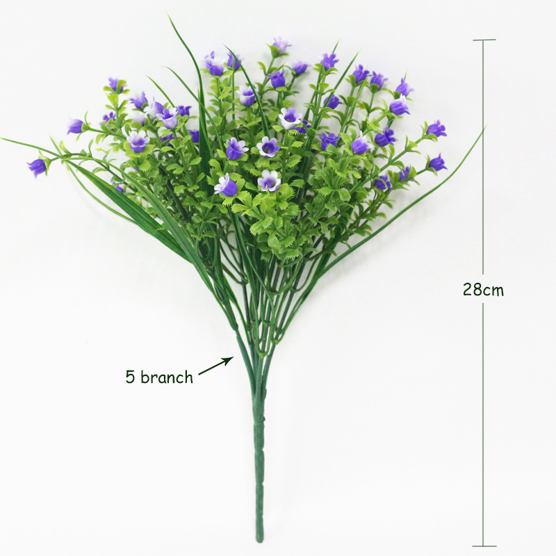JAROWN Simulation Lily Of The Valley Bouquet Artificial Plastic Fake Flowers Wedding DIY Flores Home Party Feast Decor Flower (22)
