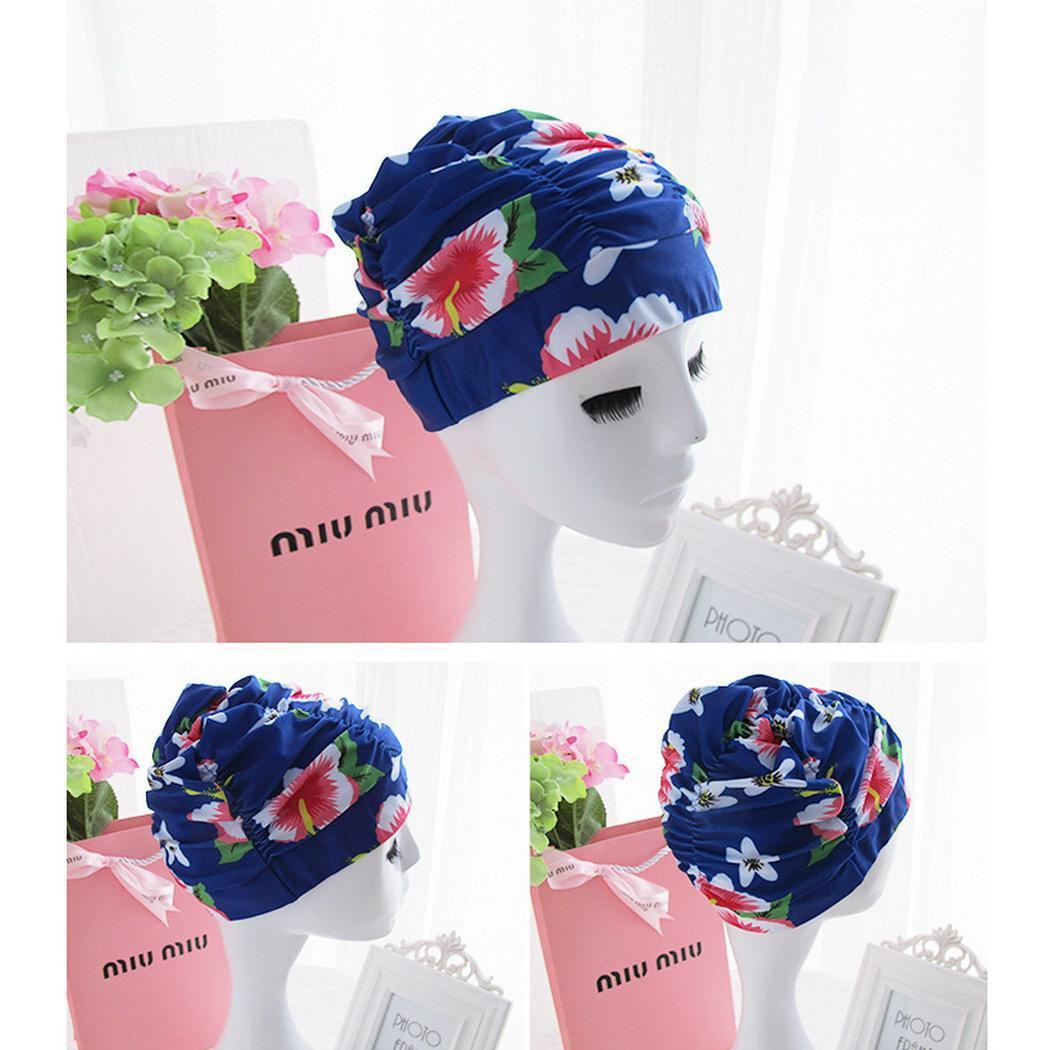 New Fashion Adulto Capelli lunghi Cuffia da nuoto in nylon pieghettato cappello da bagno elastico Nuovi accessori cuffia da nuoto / occhiali / nuoto Circling, ecc.