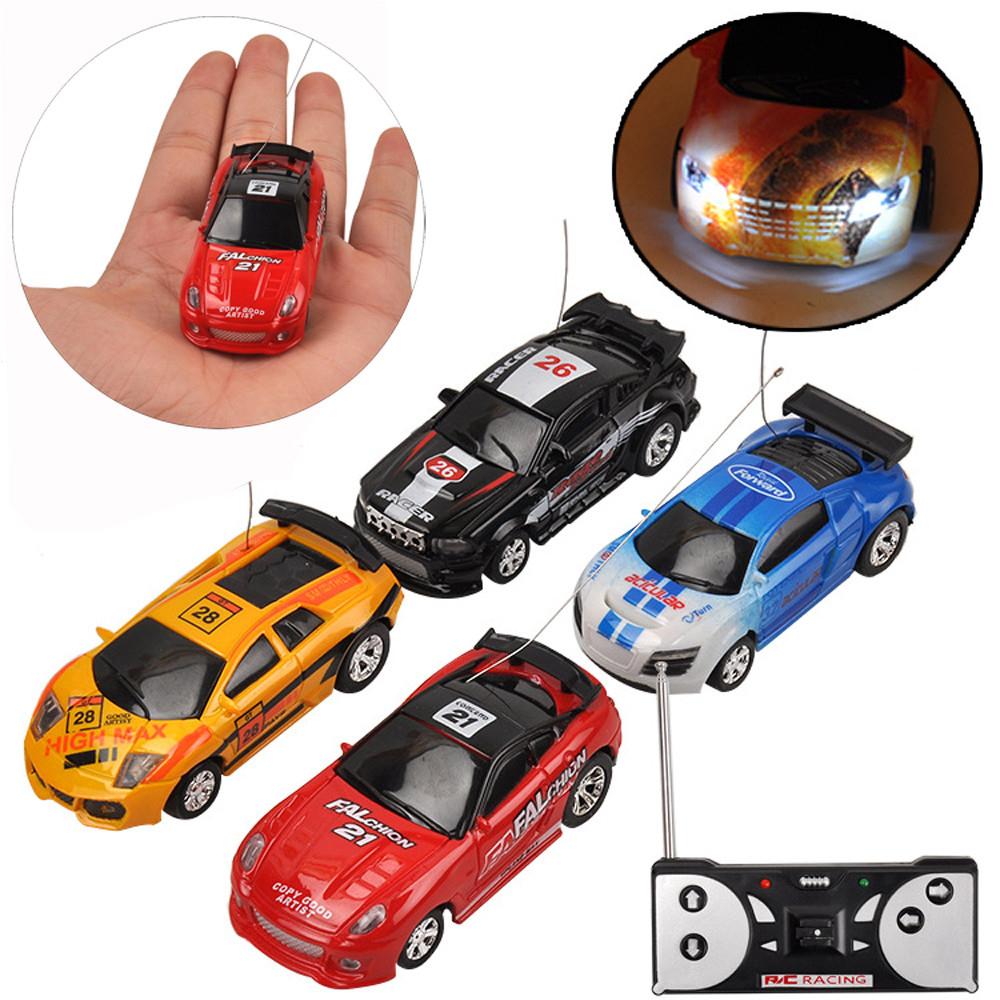 Remote controlled car toy back to the future Multicolor Can Mini Speed RC Radio Remote Control Micro Racing Car Toy Gift D300122