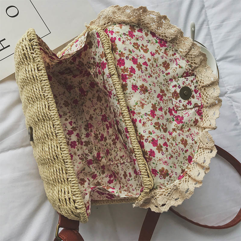 Women Lace Straw Bags INS Popular Female Holiday Handbag Summer Hot Lady Weave Shoulder Bag Travel Beach Casual Bolsa SS3150 (8)
