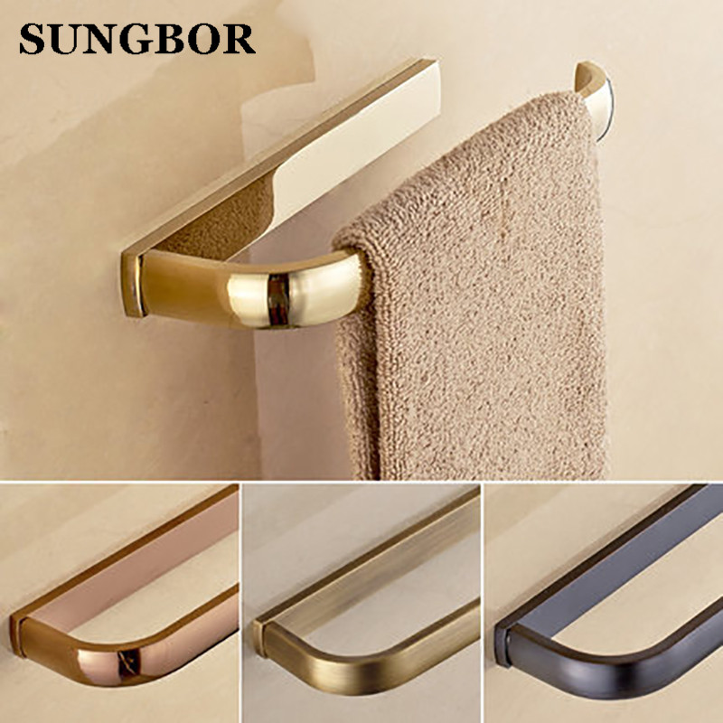 Wand befestigter Badezimmer-Tuch-Ring-goldener Messinghandtuch-Zahnstangen-Halte