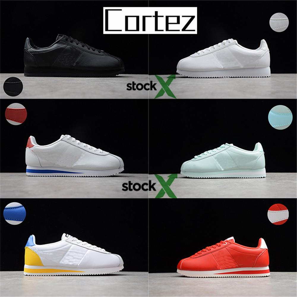 Mejores 2020 mens Cortez para mujer de los zapatos de lujo de diseño  casuales zapatillas de deporte baratas originales de cuero de zapatos  atléticos ...