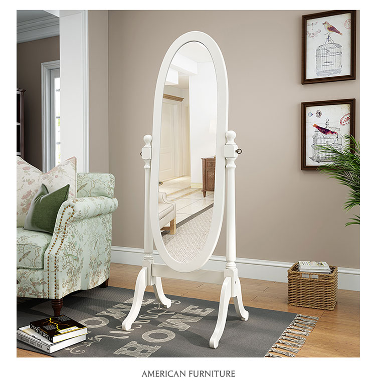 European Style Bedroom Mirror Full Body Floor Vertical Movable Mirror  Living Room Princess Carved Decorative Mirror Wx8241420 Large Mirrors For  ...