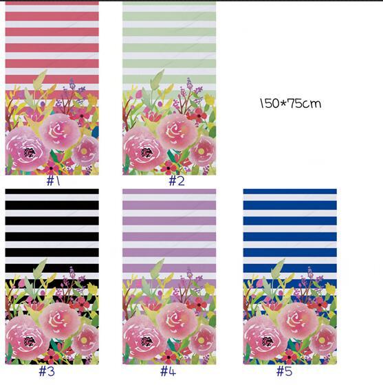 Tela decorativa ronda ornamentos rosa oscuro de toalla 0,5m