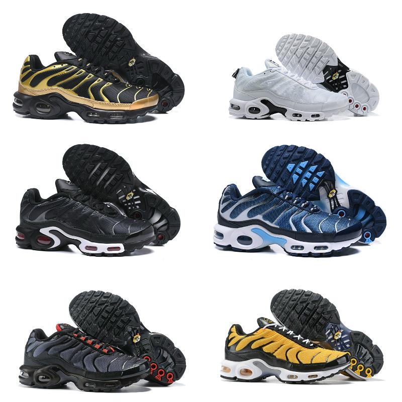 Nouvelle arrivée 2020 Originale AIR TN plus Chaussures de course pas cher MESH Noir Blanc Respirant Bleu Chaussures de basket ball Ultra Tns