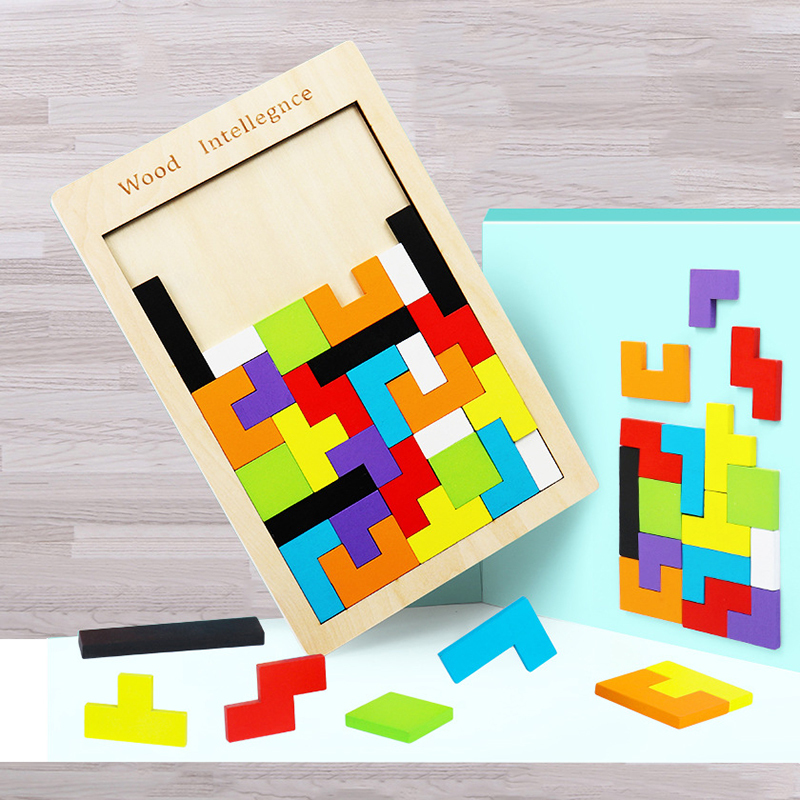 Montessori Educational Wooden Toys for Children Early Learning Exercise Kids Intelligence 3D Puzzle Games Math Toys