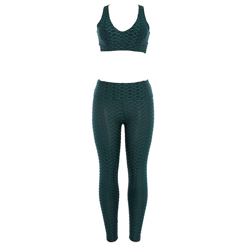 Womens Solid Sexy Thin Slim Athleisure Fitness Sets Thin Slim Sexy Tracksuits High Waist Workout Ioga Elastic (11)