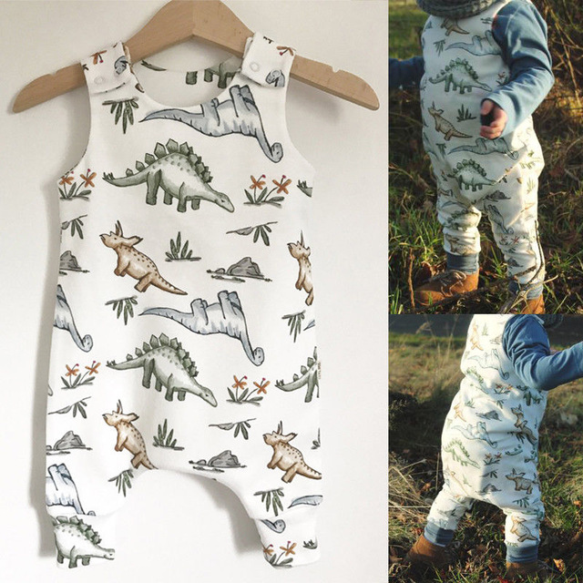 Newborn Baby Boy Girl Dinosaur Romper Jumpsuit Playsuit Summer Clothes Outfit
