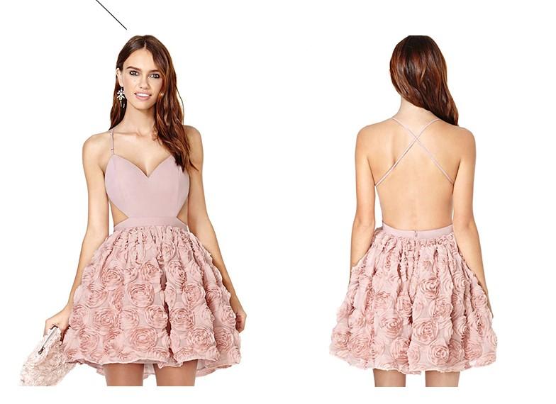 Bridesmaid dress Sweet and lovely style Panelled skirt Chiffon harness dress Fashion Women's dress Gorgeous color Skirt vestido