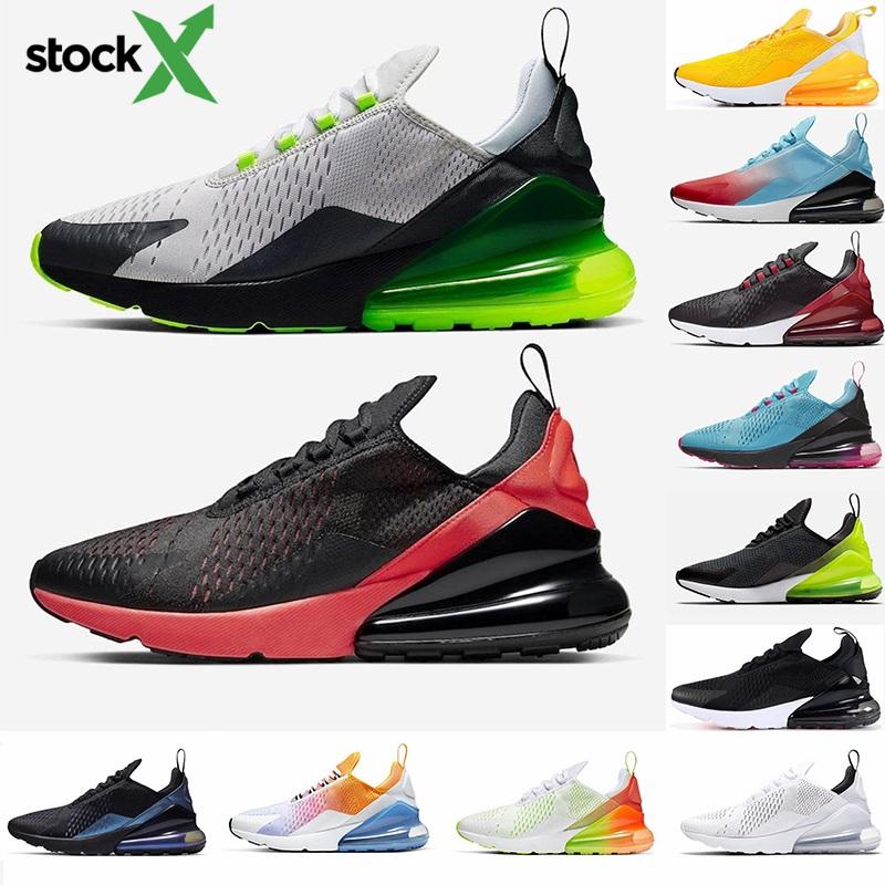 2020 Neue Kissen Nike Air Max 270 Sport Sneakers Herren Laufschuhe CNY Regenbogen Heel Trainer Road Star BHM Eisen Bred Frauen 27C Turnschuhe Größe