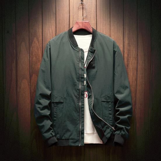2019 Herrenjacke Spring Autumn Casual Solid Fashion Slim Bomber Jacket Men Overcoat Baseball Jackets Men