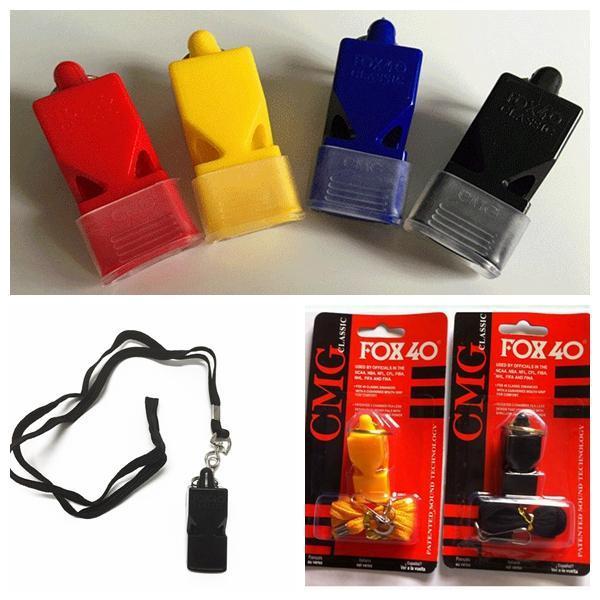 Sifflet en plastique ext/érieur portatif de secours de survie avec le clip