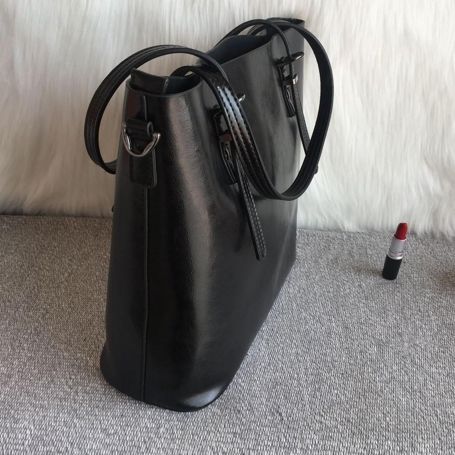 Sexy2019 Deri Hakiki Kova Tek Omuz Messenger Alışveriş Çantası Yağı Balmumu Taşınabilir Hanımefendi Balya A4 Kağıt Kadın Paketi