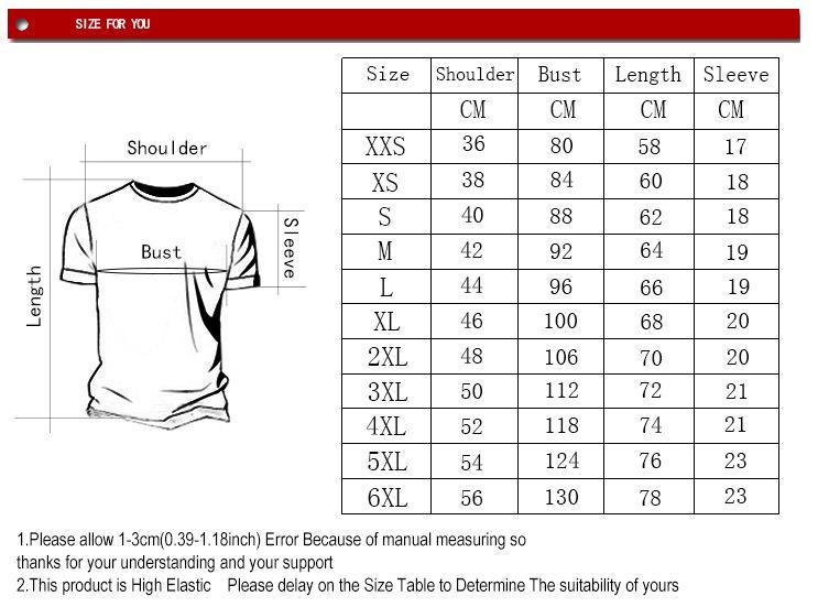 T-shirt XXS-6XL