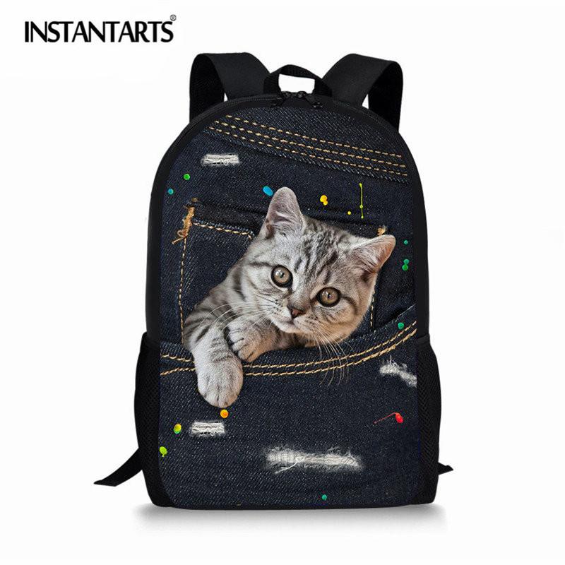 Sac /à dos avec cordon de serrage Impression 3D Motif chats
