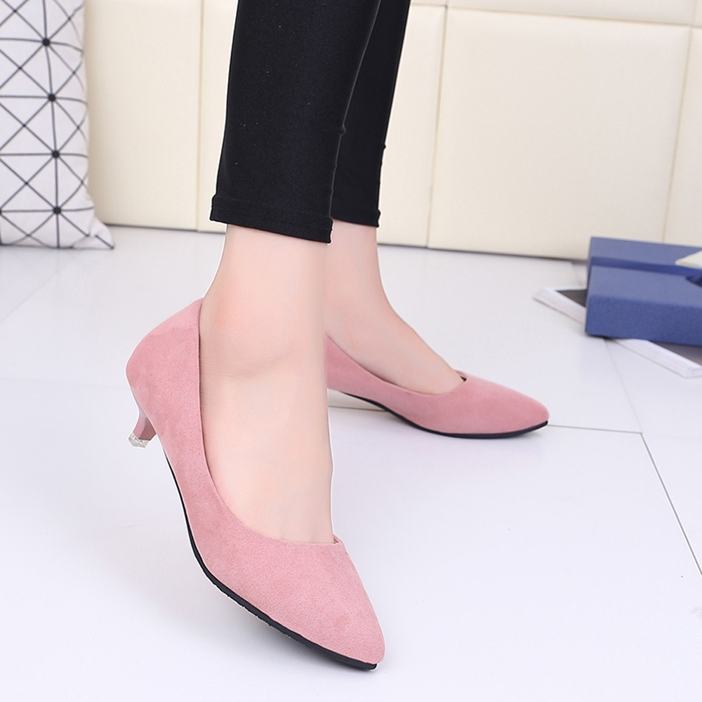 Designer Dress Shoes 2019 Fashion hallow Mouth Sexy Fashion Women Office High Heels Casual for Elegant Ladies Female