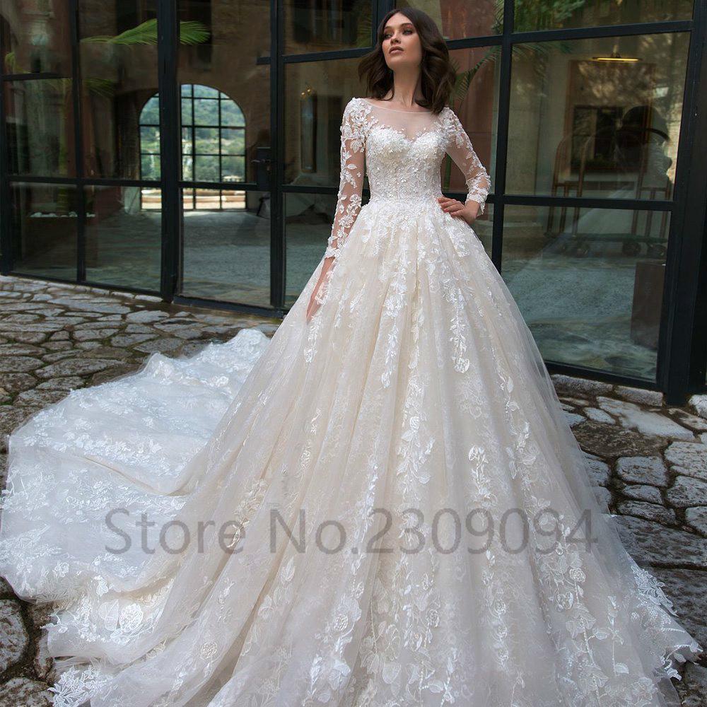 Hochzeitskleid Boho Lace Up And Buttons Sexy Bride Wedding Dress Long Sleeves Vestidos De Novia Estilo Sirena