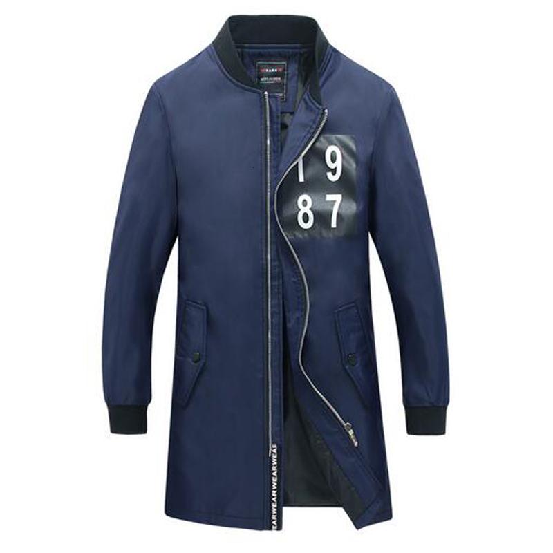 2017 Hot Sale Long Style Spring & Autumn Jackets Coat Men Brand Clothing High Quality Jacket Men Casual Plus Size M-5XL