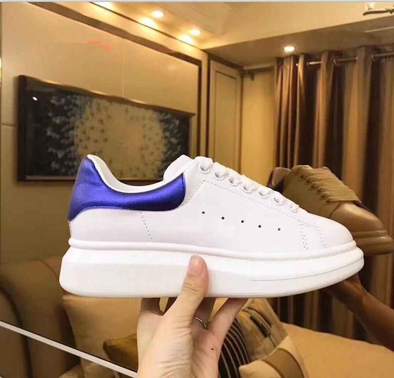 2018 Luxury Brand Men Sneakers Mc Casual Superstar Red Bottom Queen Shoes Real Row Leather Back Lace Up Running Shoes 35-45