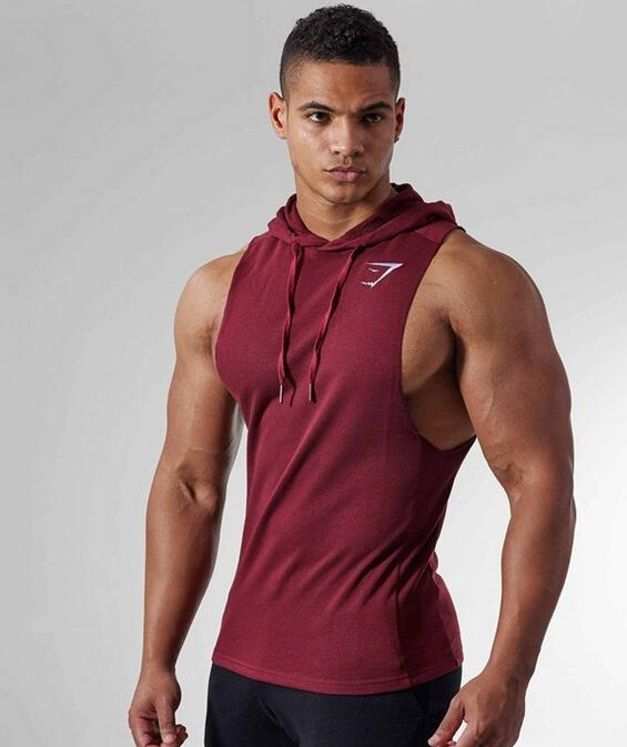 2019 Fitness exercise Tank Tops Shirts gym vest Cotton Casual Sleeveless Male Bodybuilding Tank Tops Men Casual Summer Vest