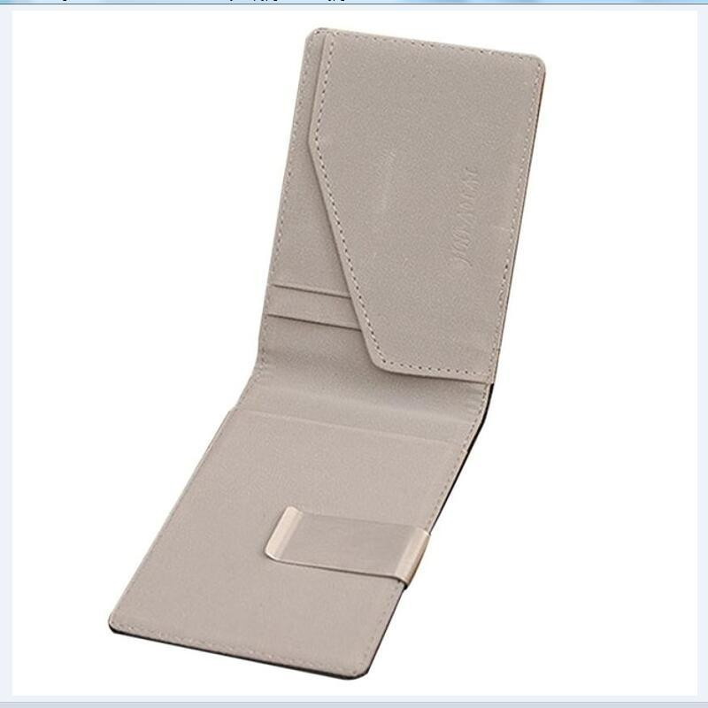 Men/'s Leather ID carte de crédit titulaire Wallet deux volets ID Cash Porte-monnaie Embrayage