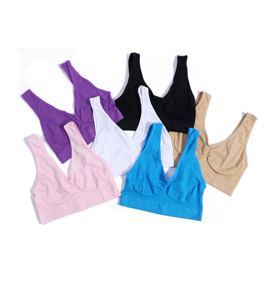 Donne senza saldatura Top comfort reggiseno Sport Gilet stretch shapewear M-3XL~