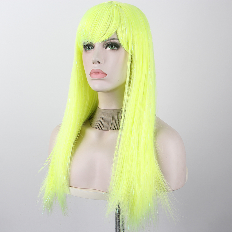 Anime Dragonball Cosplay Wig Bulma Straight Green Synthetic Hair for Adult
