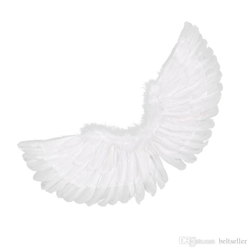 Angel Fairy Real Feather Wings Dance Cosplay Costume Stage Show Fancy Dress Cute